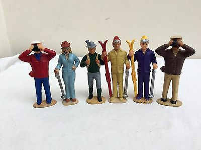 LGB Hand Painted G Gauge  - Group of 6  - Hikers,Skiers,and Tourists