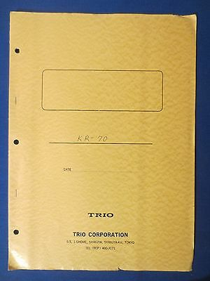 Trio Kr-70 Technical Specifications & Schematic Original Factory Issue 1969