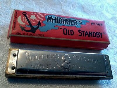 M. HOHNER'S HARMONICA with Box OLD STANDBY