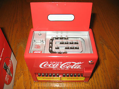 Coca Cola Bottle Vending Machine Bank By Enesco Original Box And Instructions
