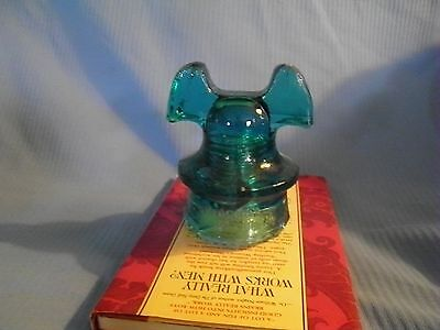 Hemingray 60 A Mickey Mouse Insulator  Has cracks and chips on bottom,in picture