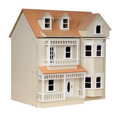 Dolls House Kit Exmouth 1:12 Scale Painted Cream Ready To Assemble DH024P