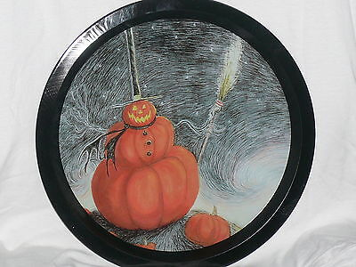 NECA Nightmare Before Christmas 2X PUMPKIN PATCH TIN PLATE Skellington sally New