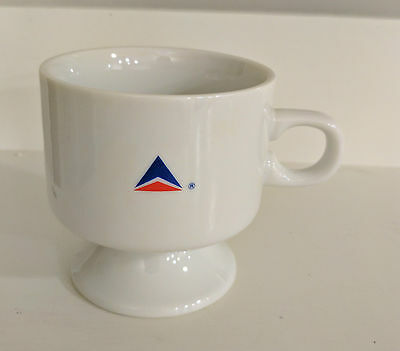 Delta Air Lines White Coffee Cup ~ Abco Tableware New York
