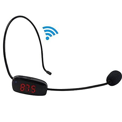 XIAOKOA Voice Amplifier Wireless Headset Microphone, Loud Sound And Hands-Free