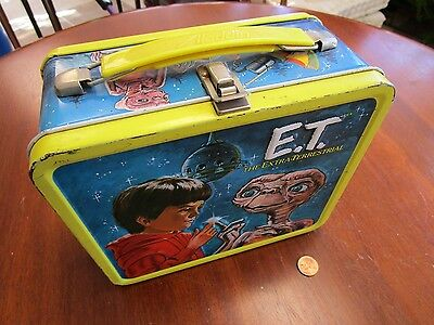 Vintage 1982 E.T. The Extra-Terrestrial Alladin Metal Lunchbox