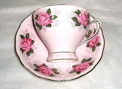vintage Colclough fine china teacup pink china with roses