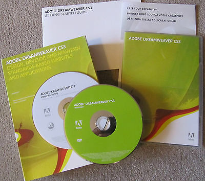 Adobe Dreamweaver CS3 Windows Version with license key PN:38040333 +*Bonus Disc*