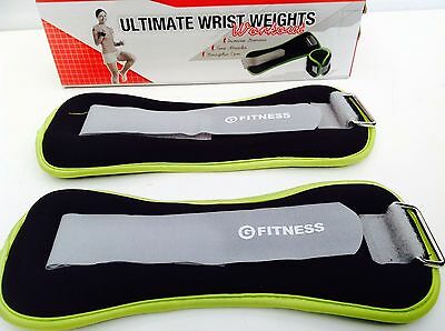 WRIST WEIGHTS SET MULTIPURPOSE FITNESS 2 x 1KG BODY STRENGTH TRAINING STRAPS