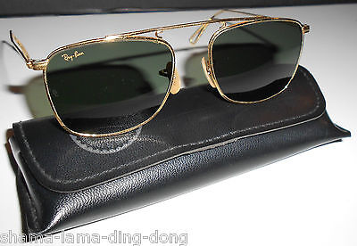 Ray-Ban B&L USA Antique Series 24K GP G15 Caravan Sunglasses