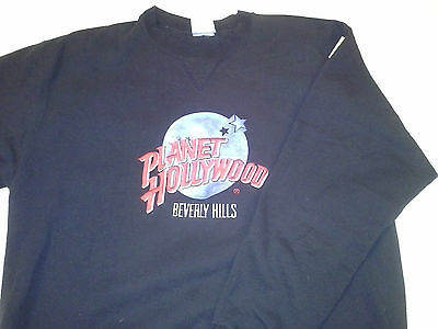 PLANET HOLLYWOOD BEVERLY HILLS BLACK SWEATER Sweatshirt Excellent Condition! EUC