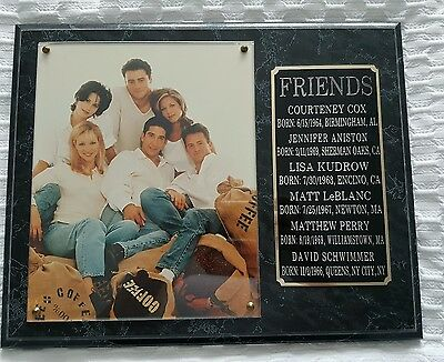 Friends collectors item F.R.I.E.N.D.S sitcom plaque with picture and details
