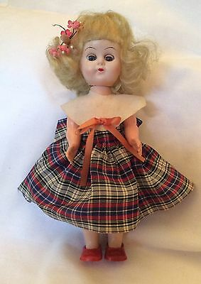 "VINTAGE 1950's HARD PLASTIC FAB DOLL 8"" ginny muffie pam friend"
