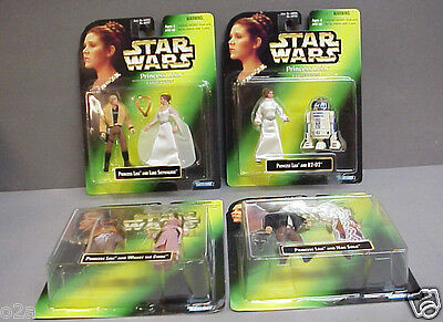1997 Star Wars Carrie Fisher Princess Leia Collection Set of 4 Kenner Sealed
