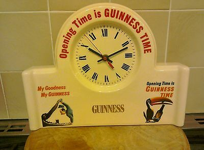 Guinness Mantle Piece Clock Rare My Goodness My Guinness