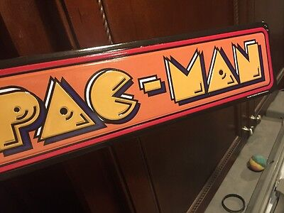 Pac Man Bally Midway Arcade Game Sign Vintage Look Video Pinball Coin Amusement