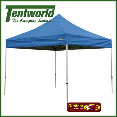 Outdoor Connection Premier Aluminium Gazebo 3x3m with 230gsm Blue Canopy