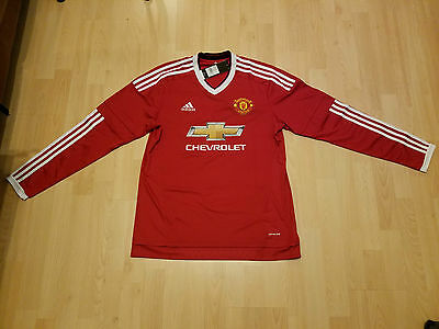 Adidas Manchester United Home Jersey 2015 2016 Long Sleeve Mens Football (LARGE)