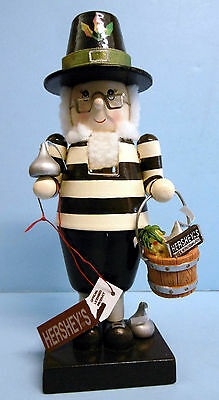 """Hershey's World Collectible Thanksgiving Elf Nutcracker by Adler (7"""" tall) Boxed"""
