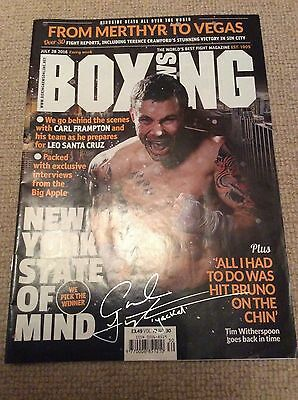 Carl Frampton Genuine Hand Signed Copy Of Boxing News July 2016