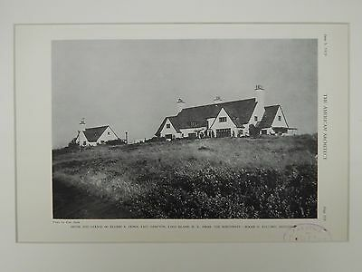 House and Garage of Ellery S. James, East Hampton, NY, 1929, Lithograph