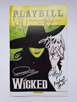 Wicked Playbill Signed by Kara Lindsay & Cast