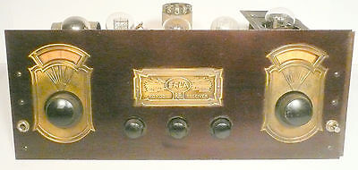 vintage * ERLA MONODIC MODEL S-50 radio part:  Untested CHASSIS w/ 5 EARLY TUBES