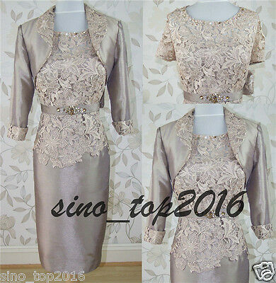 New Mother Of The Bride dresses knee Length mother Wedding dress Jacket Free