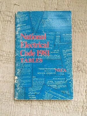 Vintage 1981 national Electrical Code Tables Booklet