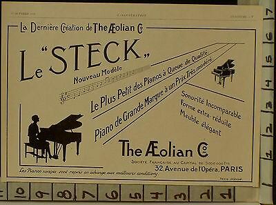 1928 Aeolian Grand Piano Music Dance Sound Key String Paris French  22922902