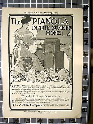 1904 Aeolian Player Piano Instrument Music Dance Metro Style Home  Fa033Fa033