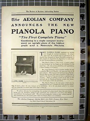 1904 Aeolian Player Piano Instrument Music Dance Metro Style   Fa042Fa042