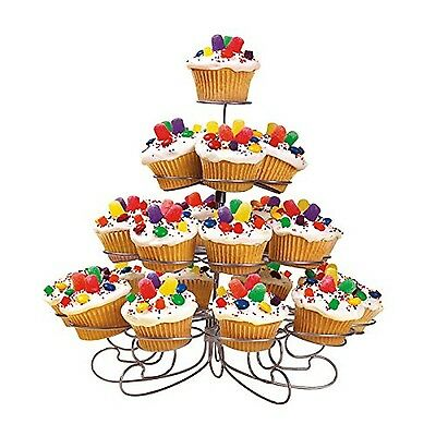Wilton 307-826 Cupcakes 'n More 23-Count 4-Tier Metal Dessert Stand 23ct