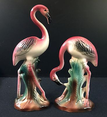 Pair of Pink Flamingos--Very Nice--Great Color--Buy It Now!