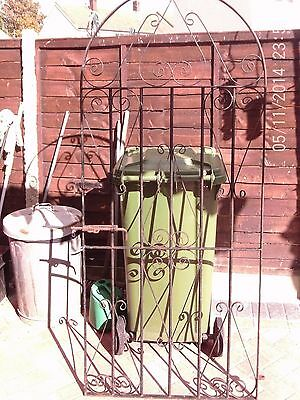 large garden gate wrought iron side gate oval top