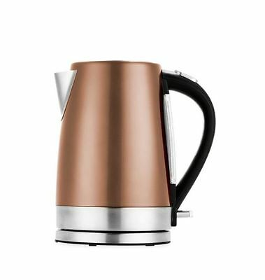 New Kettle 1.7L Stainless Steel Gold Copper Electric Auto Stop Water Indicator
