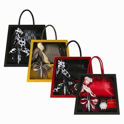 New Ladies Handbag Gift 5 PC Set With Scarf Watch Pen Keyring For Occasion