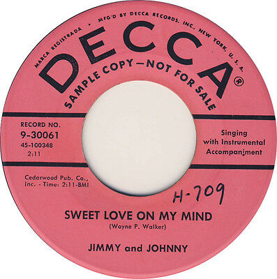 SWEET LOVE ON MY MIND Jimmy and Johnny *HOT ROCKABILLY*