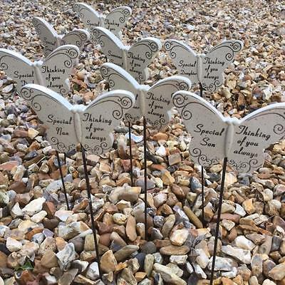 Sentimental Butterfly Grave Memory Memorial Sticks 'THINKING OF YOU ALWAYS'