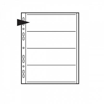 Kenro 120mm Acetate Negative File Pages Pack of 25, London