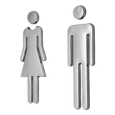 1 Pair of Male & Female People Toilet Bath WC Door Signs Plastic Female& Male