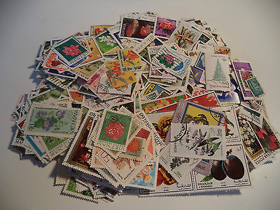 1390+ Flower, Tree, Fruit Stamps Good Condition, Some Heavy  Duplication Reduced
