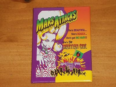 Rare Original 1996 Mars Attacks Martian Girl Film Movie Badge