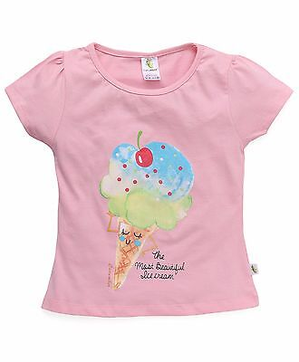 Baby / Girls / Kids  Size 2,4,6 Top/ T-shirt Cute Icecream Print  - 100% Cotton