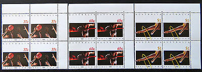 Australian Decimal Stamps:1988 24th Olympic Games - Seoul - Set of 3x4-Tabs MNH