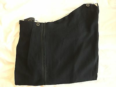 Mens Vintage 1930's Bespoke Midnight Blue Dinner Evening Trousers Size 38 X 31