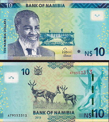NAMIBIA - 10 dollars 2015 FDS - UNC