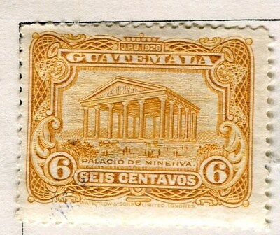 GUATEMALA;  1926 early pictorial issue Mint hinged 6c. value