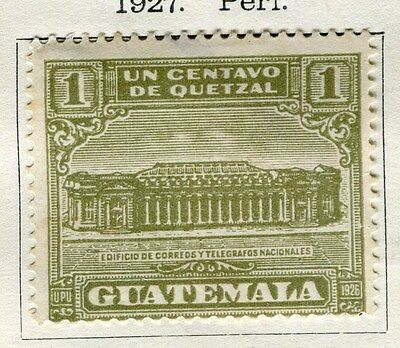 GUATEMALA;  1927 early pictorial issue Mint hinged 1c. value