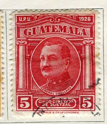 GUATEMALA;   1929 early pictorial issue fine used 5c. value